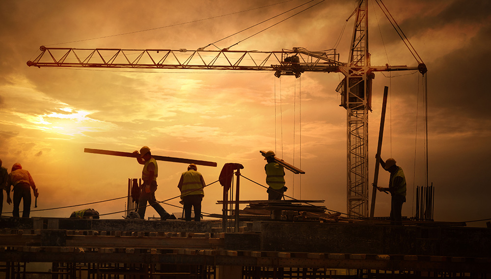 Construction Site Sunset | Shutterstock