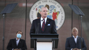 Governor delivers his revised Fiscal Year 2021 Budget Address at SHI stadium in Rutgers University on Tuesday, August 25, 2020 (Edwin J. Torres/Governor's Office).