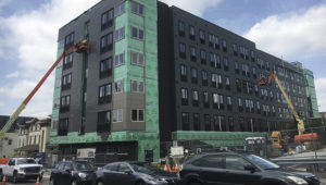Photo: Modular Construction Building in West Philly. | Rising.realestate