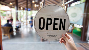 Open Sign in Coffee Shop (Credit: TK1993 iStock/Getty Images Plus)