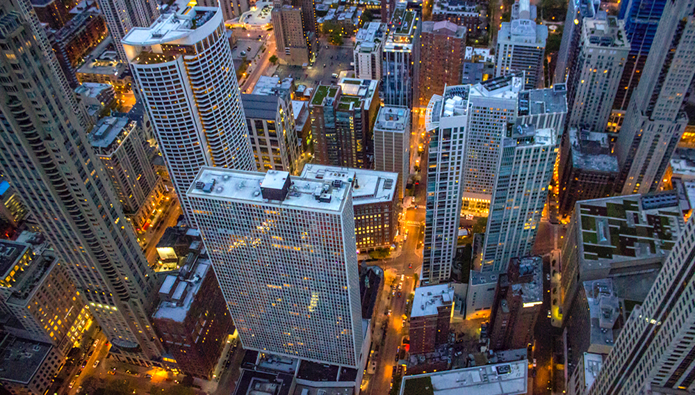 A view of the Chicago city beneath as it looks from the Skydeck at Willis/Sears Tower. | Photo by Gautam Krishnan on Unsplash