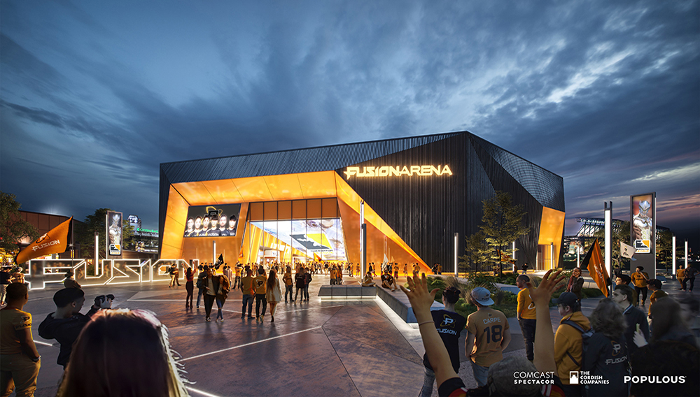 Rendering of the Fusion Arena. (Courtesy of Comcast Spectator)