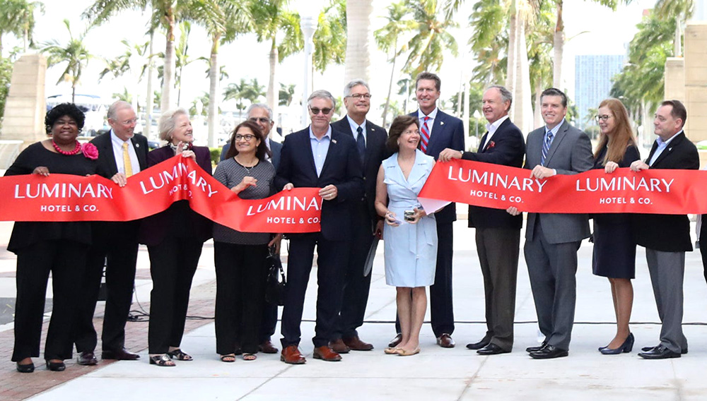 The Luminary Hotel in downtown Fort Myers hosted a ribbon cutting and gave tours to community leaders on Thursday, September 17, 2020.   Amanda Inscore/The News-Press USA TODAY NETWORK - FLORIDA