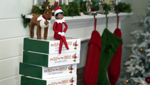Elf on the Shelf figures are displayed at the company's studio Thursday, Aug. 27, 2020, in Atlanta. Christa Pitts, founder and co-CEO of The Lumistella Company, which produces toys, books and other products under the Elf on the Shelf and Elf Pets brands, says her retail orders were covered 100% before the pandemic. Now, only 50% are covered, forcing her to rethink who she will sell to. (AP Photo/John Bazemore)