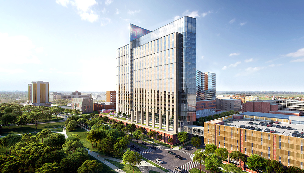 Rendering of the new inpatient hospital at The Ohio State University Wexner Medical Center. | Photo: osu.edu