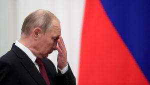 Russian President Vladimir Putin attends an awards ceremony at the Kremlin in Moscow on May 23. (Evgenia Novozhenina/Reuters)