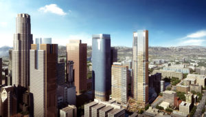 An updated rendering of the project with the new building heights. | Department of City Planning