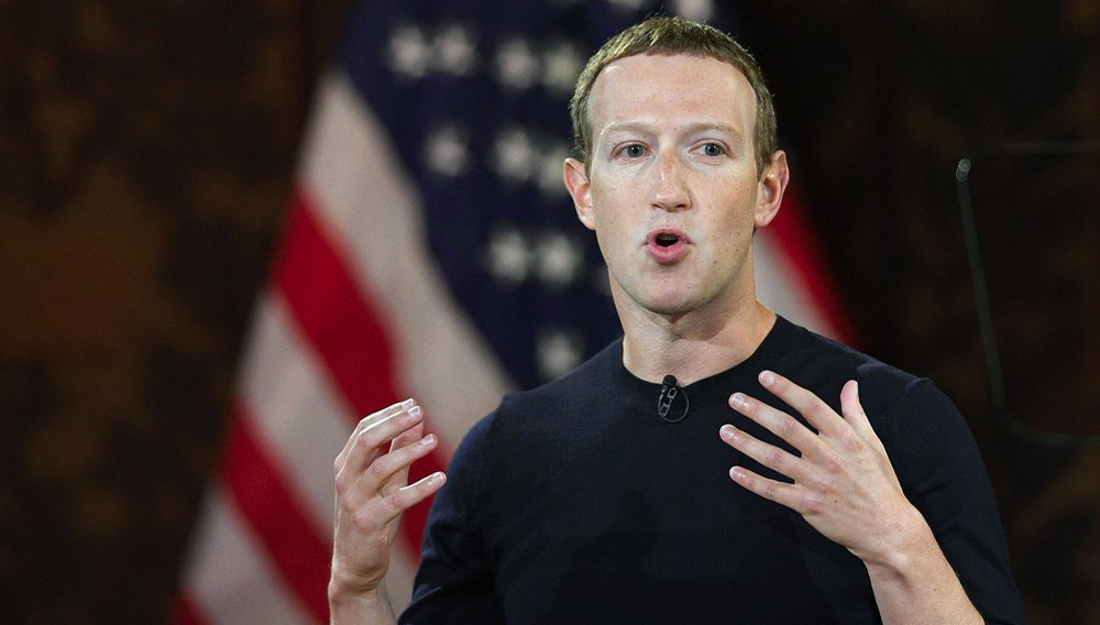 FILE - In this Thursday, Oct. 17, 2019, file photo, Facebook CEO Mark Zuckerberg speaks at Georgetown University, in Washington. (AP Photo/Nick Wass, File)