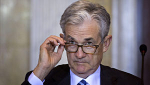 Jerome Powell, chairman of the U.S. Federal Reserve, attends a meeting at the U.S. Treasury in Washington, D.C., on Oct. 16, 2018. MUST CREDIT: Bloomberg photo by Andrew Harrer