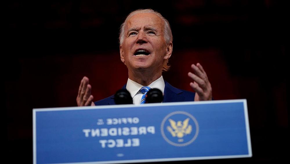 President-elect Joe Biden speaks at The Queen theater Wednesday, Nov. 25, 2020, in Wilmington, Del. (AP Photo/Carolyn Kaster)