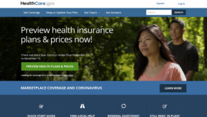 """This file image provided by U.S. Centers for Medicare & Medicaid Service shows the website for HealthCare.gov. As COVID-19 spreads uncontrolled in many places, a coalition of states, health care groups and activists is striving to drum up """"Obamacare"""" sign-ups among a growing number of Americans uninsured in perilous times. (U.S. Centers for Medicare & Medicaid Service via AP)"""