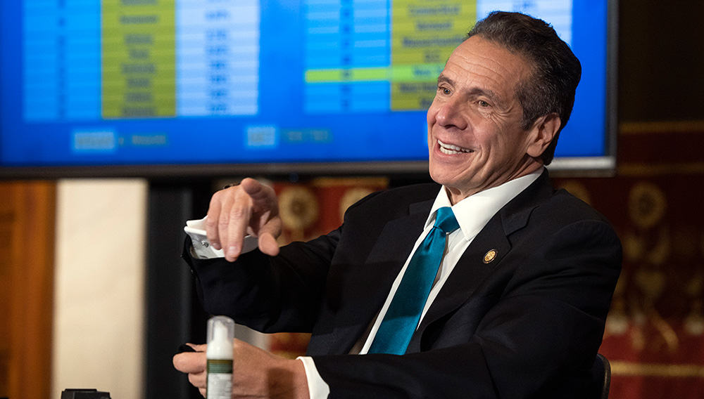 October 26, 2020 - Albany, NY - Governor Andrew M. Cuomo provides a coronavirus update during a press conference in the Red Room at the State Capitol. (Mike Groll/Office of Governor Andrew M. Cuomo). | Governor Andrew Cuomo (Flickr)