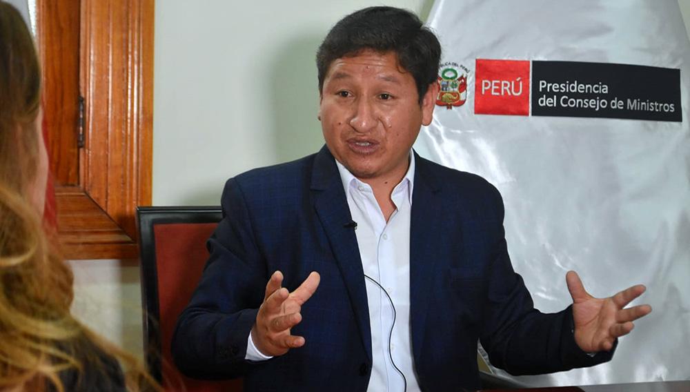 Guido Bellido Ugarte, presidente del Consejo de Ministros de Perú, ofreció declaraciones en una entrevista exclusiva con Biz Republic.