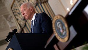 President Joe Biden speaks during an executive order signing regarding competition. (Brendan Smialowski / AFP via Getty Images)