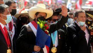 Estados Unidos sería previsiblemente el destino del primer viaje oficial de Castillo, que asumió la Presidencia de Perú el 28 de julio, después de unas ajustadas y polarizadas elecciones. Foto: Presidencia del Perú.