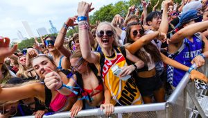 General atmosphere on day one of Lollapalooza at Grant Park on July 29, 2021 in Chicago, Illinois. (Photo by Michael Hickey/Getty Images)