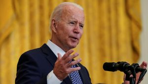 U.S. President Joe Biden in the East Room at the White House in Washington, U.S., September 8, 2021. REUTERS/Kevin Lamarque/File Photo