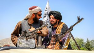 PHOTO: Taliban fighters celebrated their victory in Kabul and quickly asserted their authority on the capital's streets. | EPA
