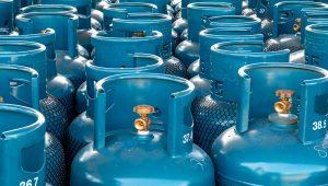 LPG gas bottle stack ready for sell, filling lpg gas bottle. | AdobeStock