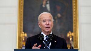 El presidente Joe Biden habla en la Casa Blanca, el jueves 9 de septiembre de 2021, en Washington. (AP Foto/Andrew Harnik)