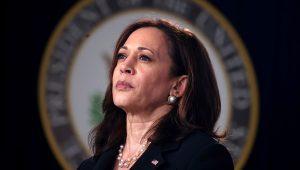 Kamala Harris, en un acto en la Casa Blanca.   Evelyn Hockstein/Reuters
