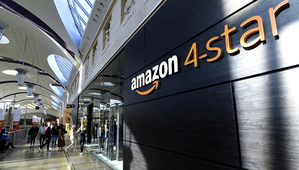 Vista general de la nueva tienda 4-star de Amazon en el centro comercial Bluewater, en Inglaterra, el miércoles 6 de octubre de 2021. (Doug Peters/PA via AP)