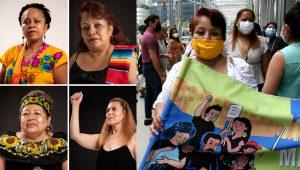 A la izquierda, las cuatro latinas galardonadas, en una foto publicada en la página de Facebook del Roosevelt Institute. A la derecha, la inmigrante mexicana Sonia Pérez, una de las mujeres indocumentadas que ha sido premiada por el Roosevelt Institute. | FERNANDO MARTÍNEZ / IMPREMEDIA