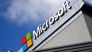 A Microsoft logo is seen in Los Angeles, California, U.S. June 14, 2016. REUTERS/Lucy Nicholson/File Photo